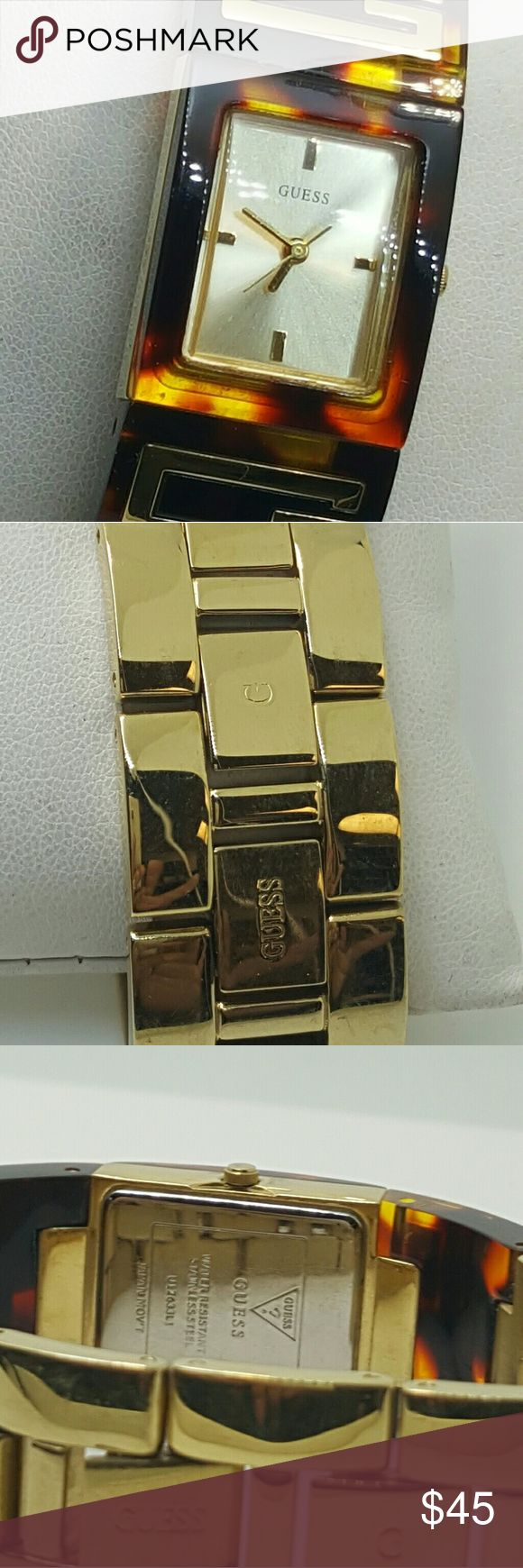 Guess tortoise shell watch Guess womans tortoise shell watch Guess Accessories Watches   Supernatural Style