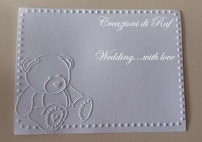 Card invito per Baby shower, Battesimo, compleanno...a tema orsetto