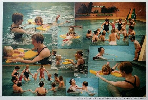 The Fulham Pools London Uk Parent & Toddler's class with Irene Barbari 1993 by Michel Chauny