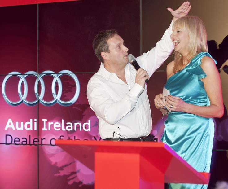 Mario Rosenstock and Miriam O'Callaghan at Audi Dealer of the Year Awards 2012.
