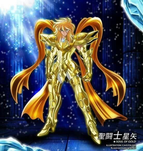 Hyoga, ficou muito divoso com a armadura divina de Aquario