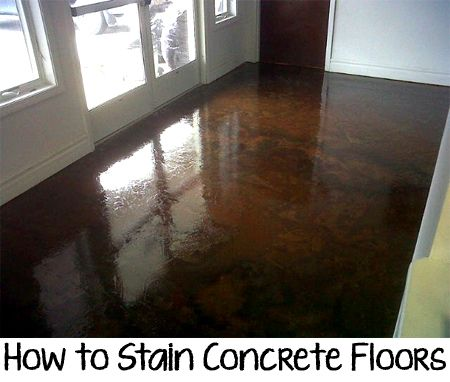 How to Stain Concrete Floors if this was done to an outdoor porch what color would the railings be?