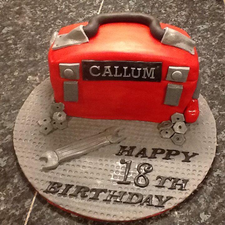 Mechanic toolbox 18th cake