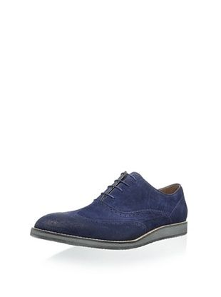50% OFF Andrew Marc Men's Rockwood Oxford with Brogue Detail (Navy/White/Natural Suede)