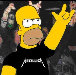 haha Homer rockin out to metallica