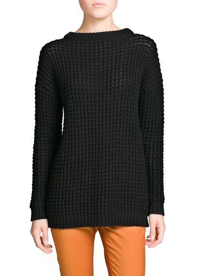 Jersey largo punto grueso