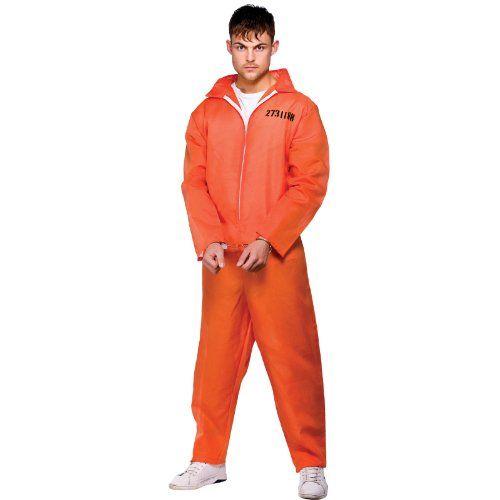 Convict Prisoner Overalls Blaumann Orange Herrenchronograph Kostüm Medium