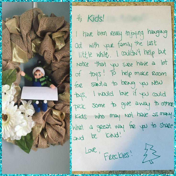 Freckles hid really well today! And he brought us a little note too! #adventuresoffrecklestheelf #elfontheshelf #elfmail #sharingiscaring