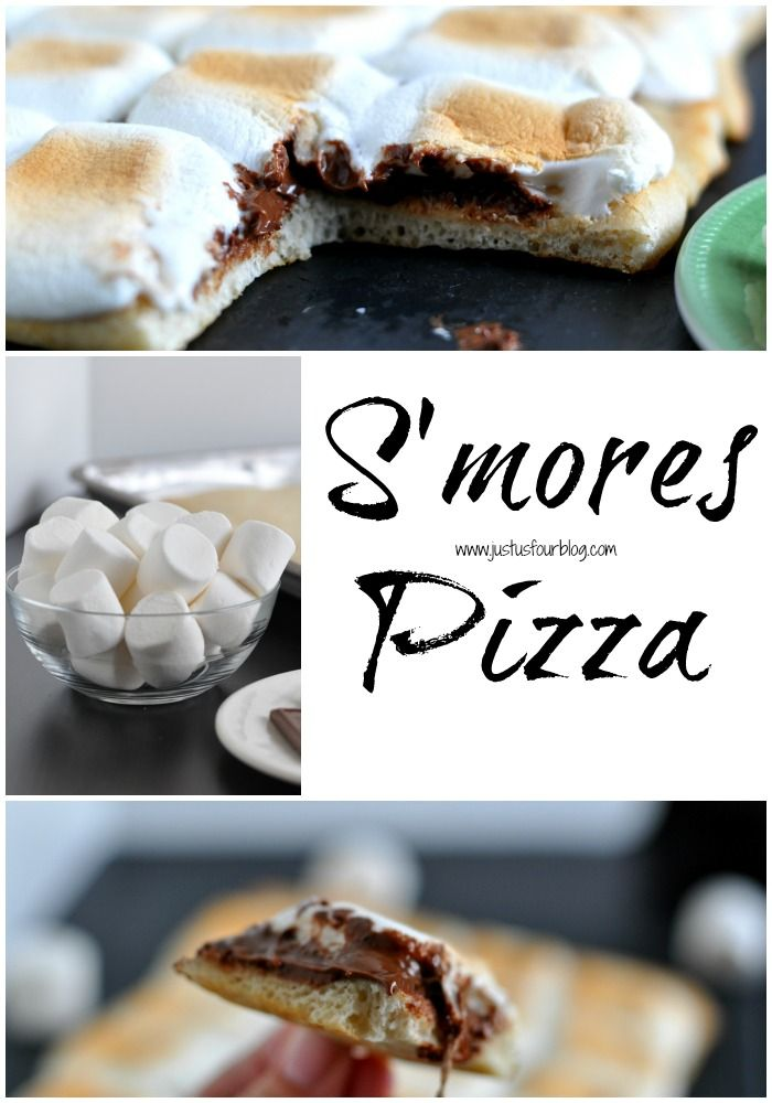 S'mores Pizza Recipe - Just Us Four