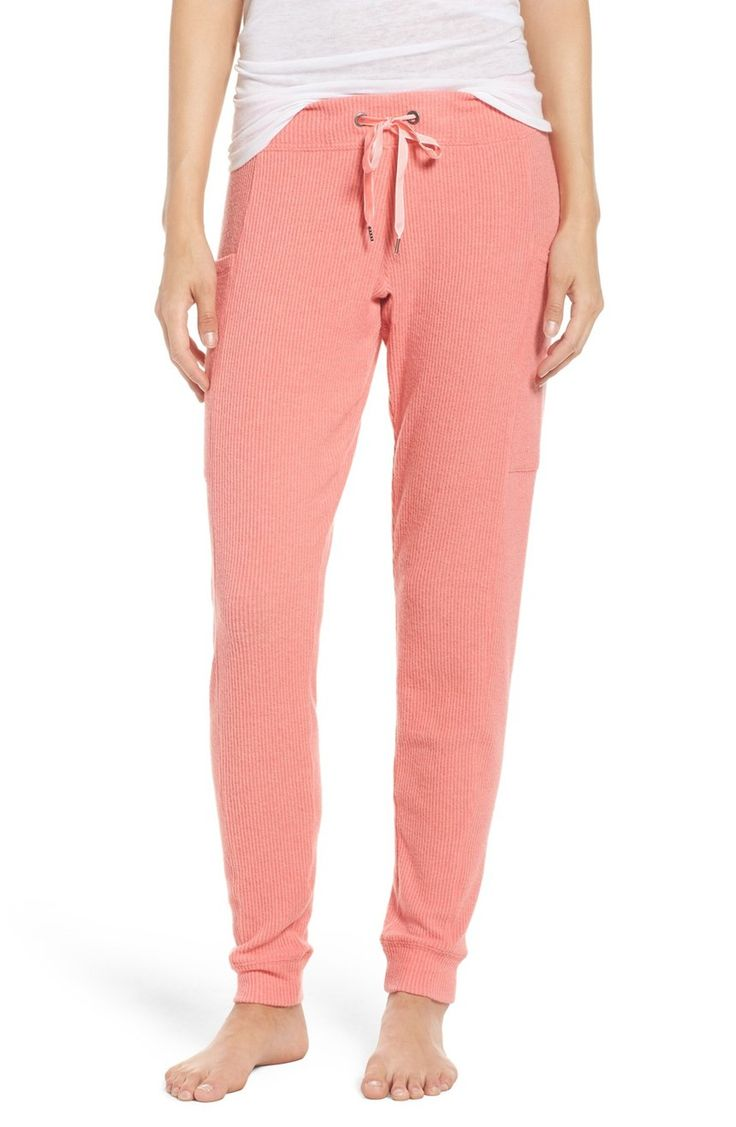 Comfy and cozy for lounging, these pink joggers are too cute.