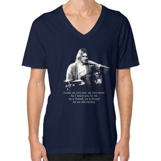 Kurt cobain come as you are V-Neck (on man)