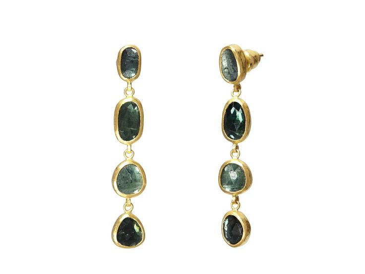 Gurhan 24k Tourmaline Cluster Drop Earrings EFVPh41l0Y