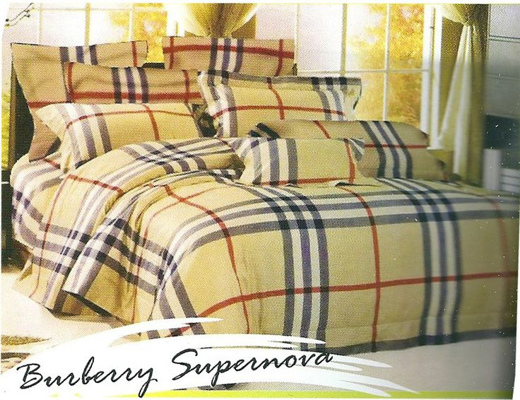 Star Gold Burberry Supernova Brown Bed sheets