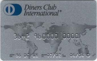 Diners Card (Diners Club International, Italy) Col:IT-DC-0001