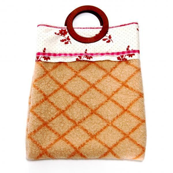 handtas oranje deken
