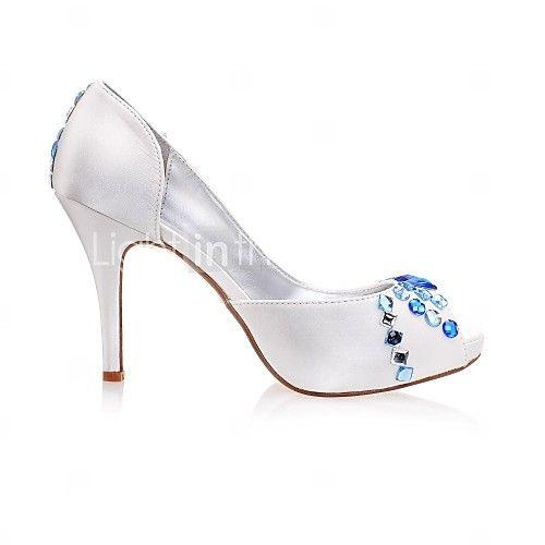 damesschoenen peep toe stiletto hak satijnen pumps trouwschoenen meer kleuren beschikbaar   LightInTheBox