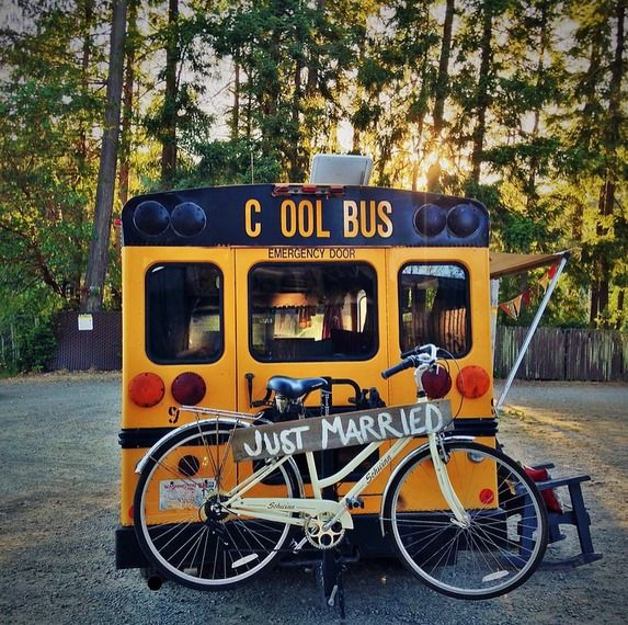 """This is the Minette Short Bus Conversion by Von Thompson Creative. The DIY school bus RV is cozy and adorable! I see lots of """"normal"""" bus conversions, but I love seeing what can be done…"""