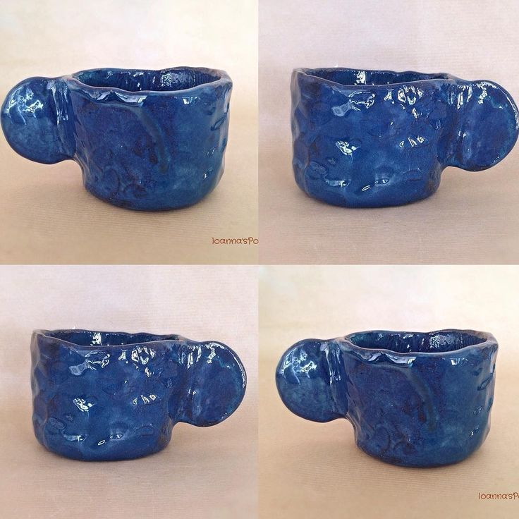 Dramatic petrol blue covers this modern coffee mug. I'm so happy with this new glossy glaze!