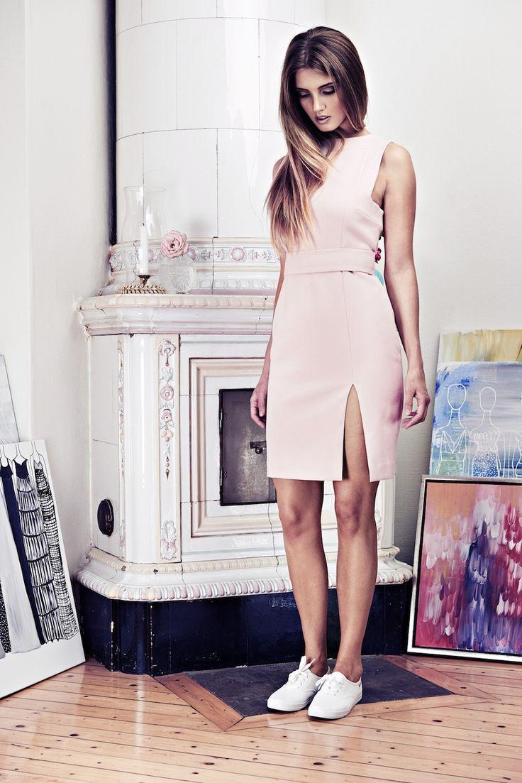Lookbook SS15 Viktoria Chan fashion label, Scandinavian fashion, Pink colors. sport chic dress