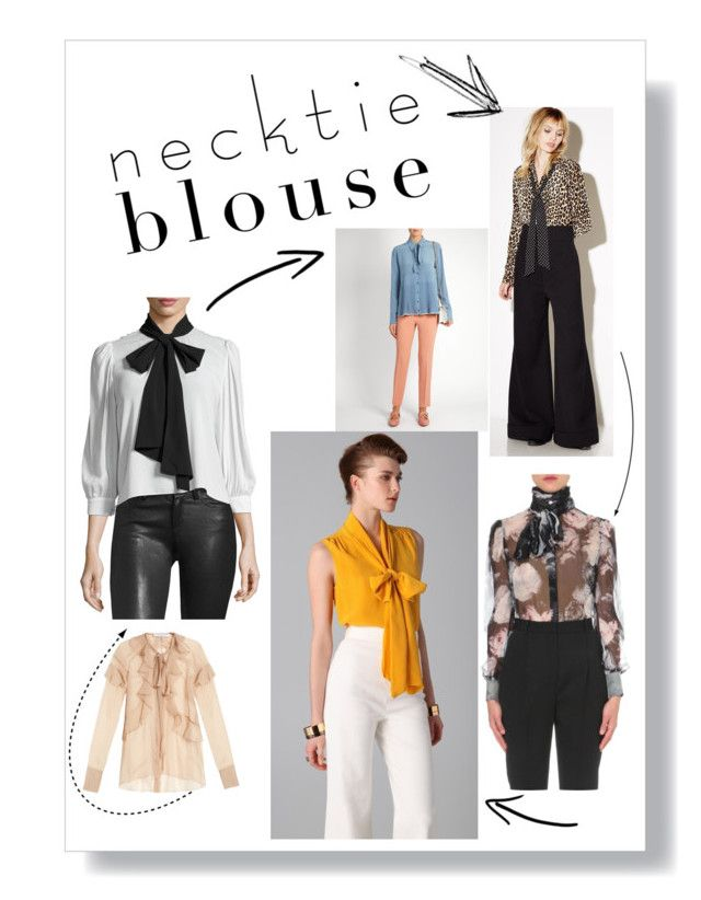 Blouses, necktie blouses, career wear, work wear, office look, stinavilla, wardrobe consultant, personal stylist  Necktie blouses by cricri123 on Polyvore featuring polyvore, fashion, style, Viktor & Rolf, Alice + Olivia, Equipment, Alexander McQueen, Rochas, Givenchy, clothing and necktieblouses