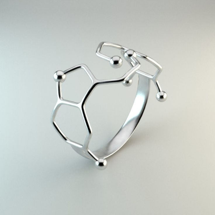 Dopamine and Serotonin Molecule Ring | Chemistry Jewelry ...