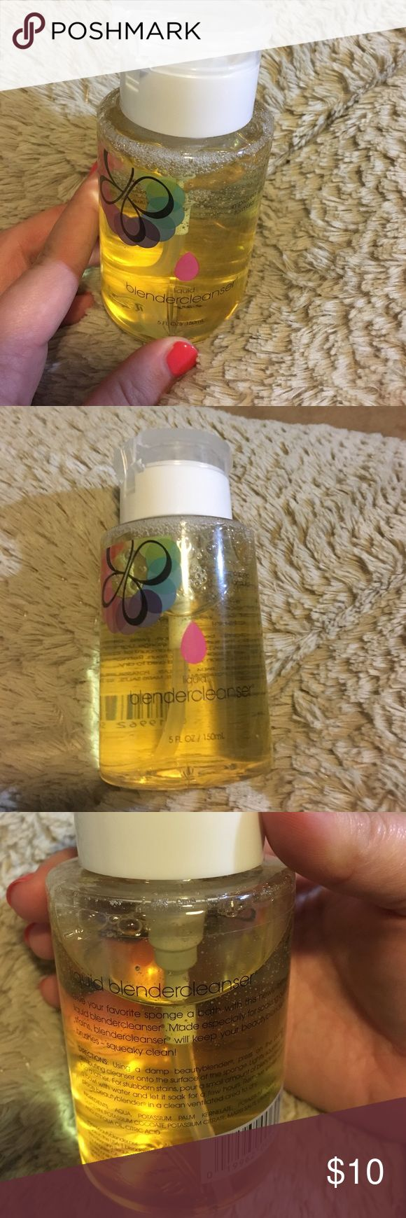 Liquid beauty blender cleanser Liquid beauty blender cleanser, very gently used..*a few times. Makeup