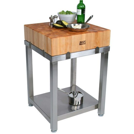The Butcher Block Carts By John Boos Are 36u0027u0027 High, 129 Lbs And