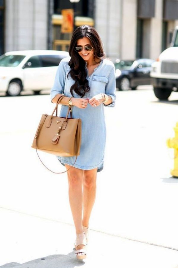 25 Killing Styles To Wear Chambray Shirt Outfits | Chambray Shirt Outfits | Denim Shirt Outfits | Denim Outfits | Casual Outfits | Fenzyme.com