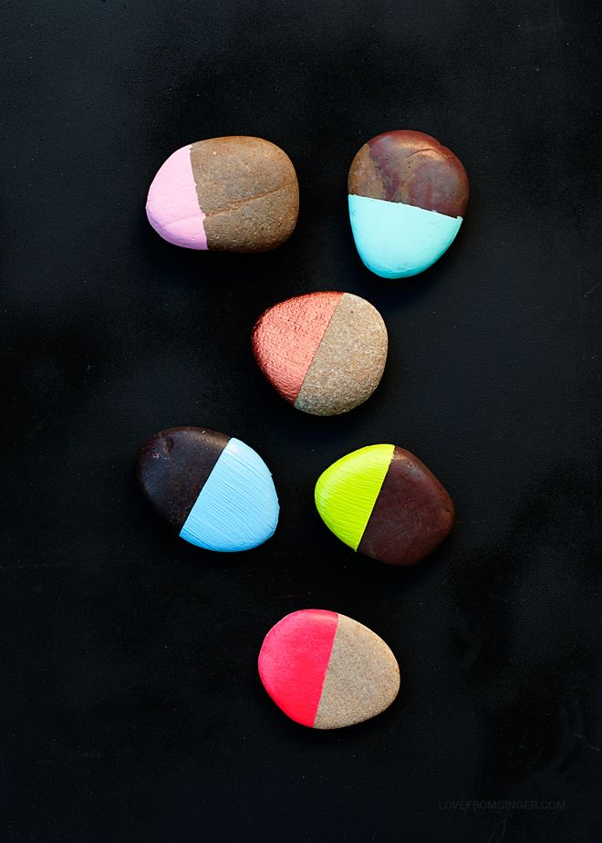DIY 5 Minute Painted Stones - Love From Ginger