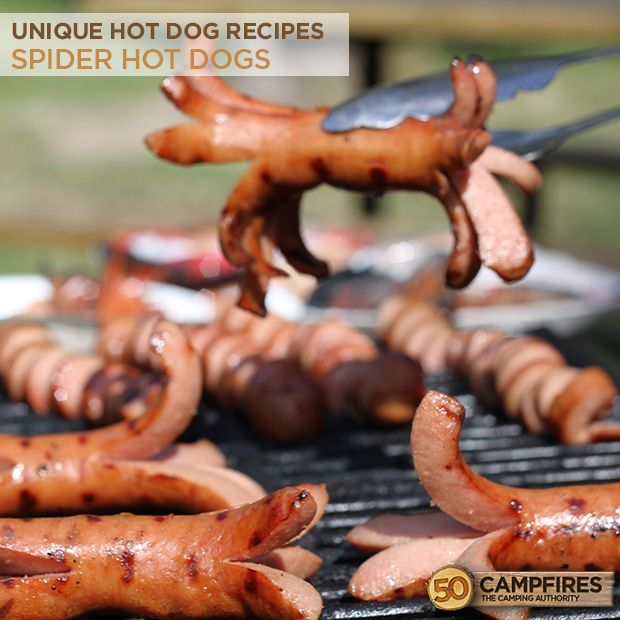 Unique Hot Dog Recipes: Spider and Spiral Dogs - kids go crazy for these! #kidsrecipes