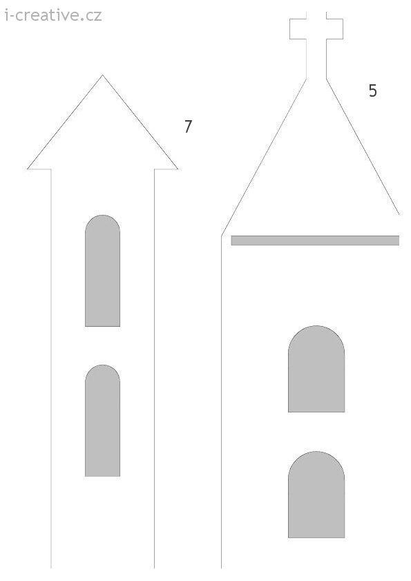 vystřihovánky věžičky