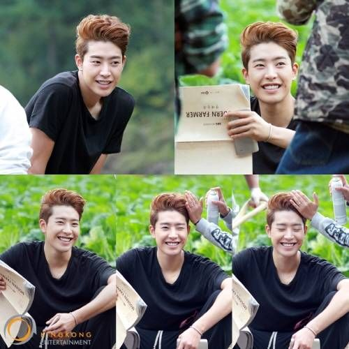Park Min Woo gives fan service with his wink and dimples in BTS photos from 'Modern Farmer'