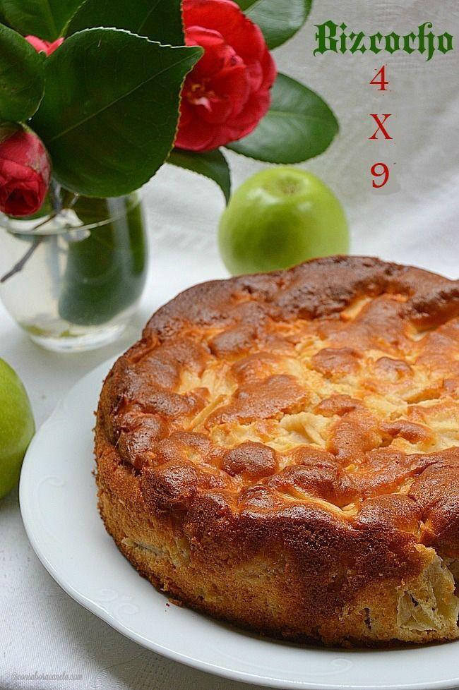 Con sabor a canela: Bizcocho 4 x 9 (de manzana)