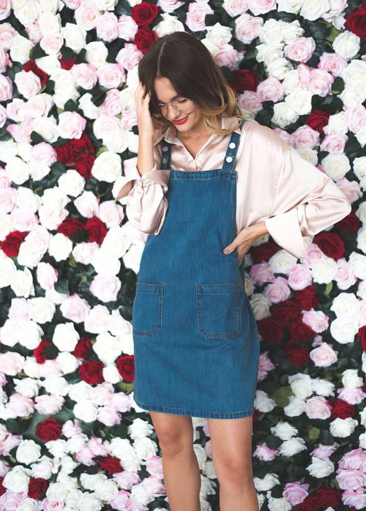 Who knew you could (literally) skirt between looking like a tomboy or a lady? This pocketed, denim pinafore dress is cut short and sassy with plenty of fun for winter layers. Adjustable straps with sn