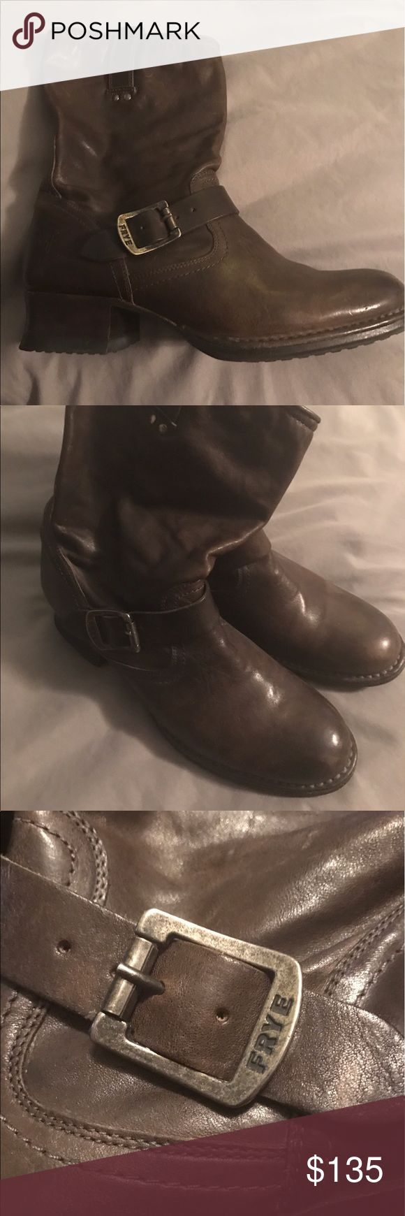 FRYE Slouch Boots!!!!❤️ Size 9, Dark Brown! These are a pair of Veronica dark brown slouch boots!  Only worn a couple of times!!! Frye Shoes Combat & Moto Boots