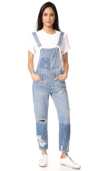 Blank Denim Distressed Overalls | 15% off first app purchase with code: 15FORYOU