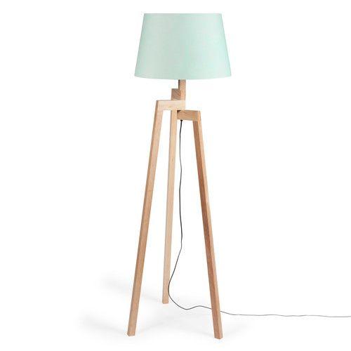 lampadaire tr pied pastel en bois maisons du monde my. Black Bedroom Furniture Sets. Home Design Ideas