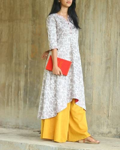 Off White Embroidered Tunic I Shop at :http://www.thesecretlabel.com/shalini-james