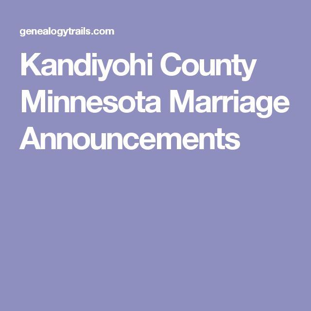 Kandiyohi County Minnesota Marriage Announcements