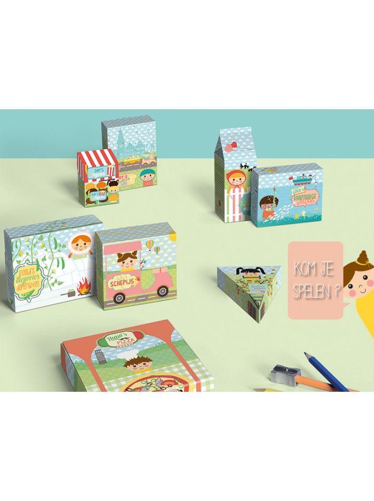 'De ontwerpwinkel' Bouwplaat, goed voor allerlei cadeau doosjes.