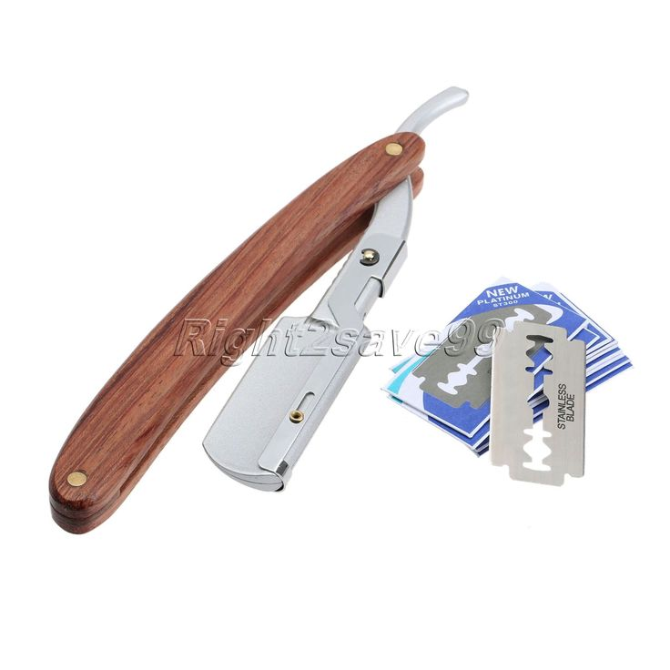 High Quality 1set Men Straight Barber Edge Steel Razor Folding Shaving Knife Hair Removal Tool With 10pcs Blades Rosewood Handle