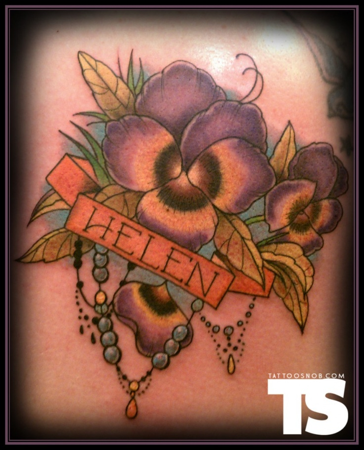 Pansy tattoo by Jorell