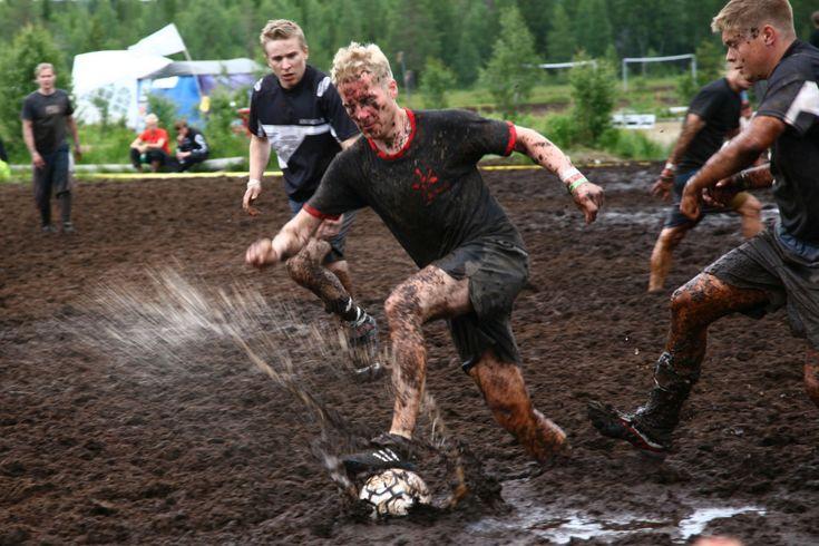 Swamp football championship  in Kainuu (Finland)