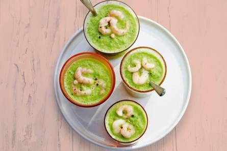 Groene gazpacho met avocado en garnalen - Recept - Allerhande - Albert Heijn