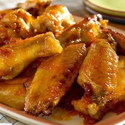 Hellmanns Maple-Bourbon Glazed Chicken Wings