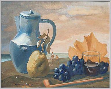 Mario Tozzi 1935: Autunno. Tempera su Tela applicata su Tavola cm.39x47 - L'opera è esposta presso la Galleria Civica d'Arte Moderna e Contemporanea di Torino - Archivio n.1107 - Catalogo Generale n.35/12.