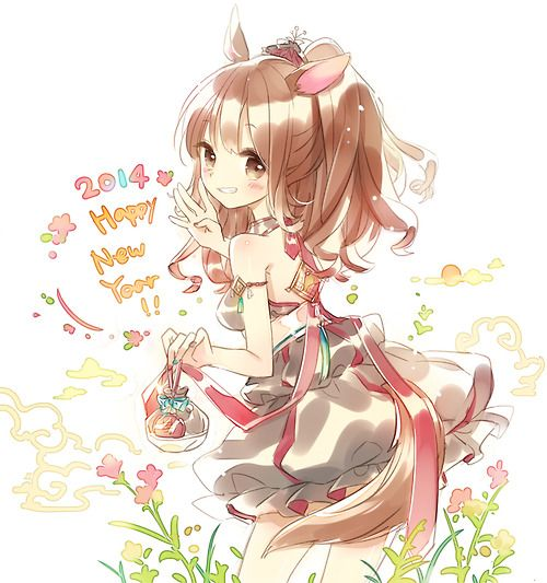 Anime Girl Cat White