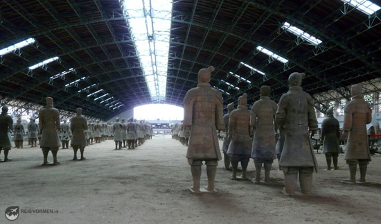 Again, rows and rows of terracotta warriors. This picture was taken from behind the army...