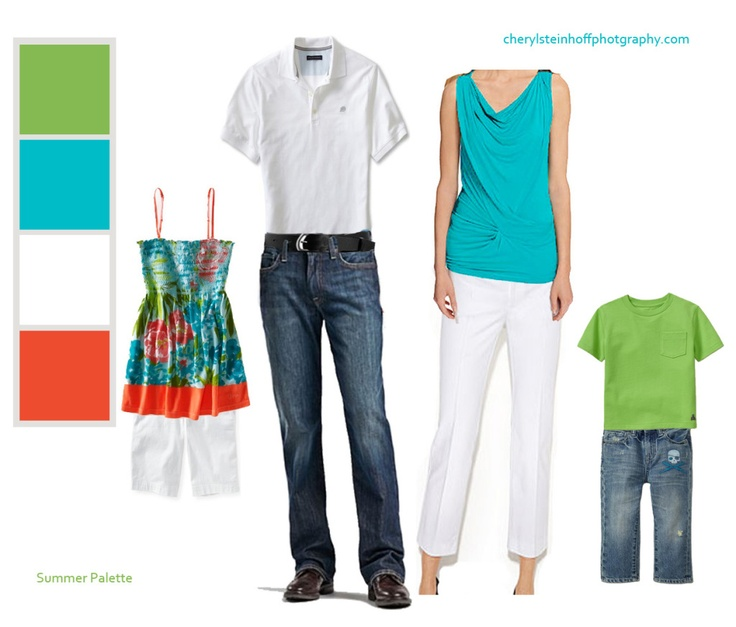 Clothing/Color combination for Summer Family Portraits