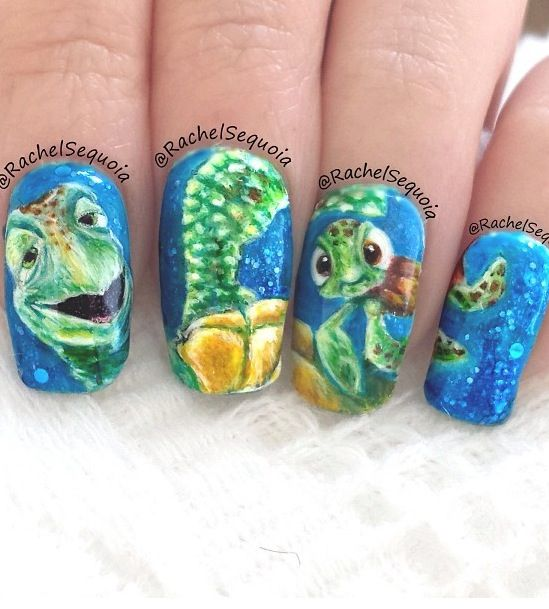 119 best nail art images on pinterest christmas nails nail finding nemo nails prinsesfo Gallery